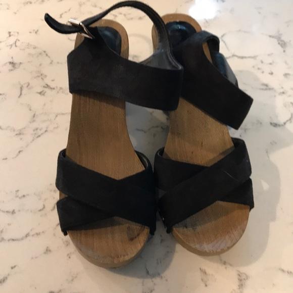 Black Block Heels Size 9 Wide Fit